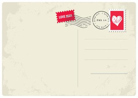 Liefde Postcard Vector Illustratie