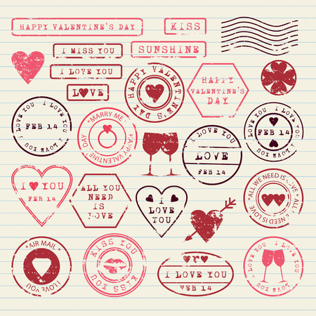 stamps: Valentine\ Illustration