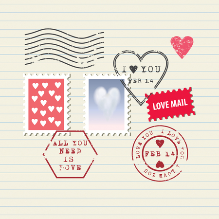 love stamp: Valentine\ Illustration
