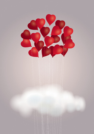 Hearts bouquet Vector