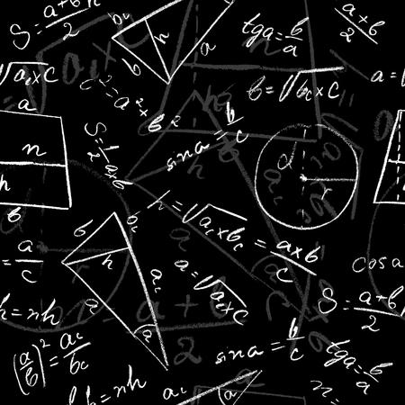 Mathematical seamless pattern