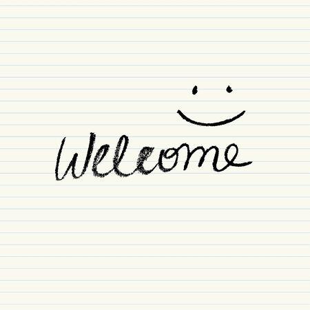 bienvenida: Cartel de bienvenida simple