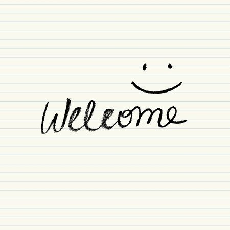 crayons: Simple Welcome sign