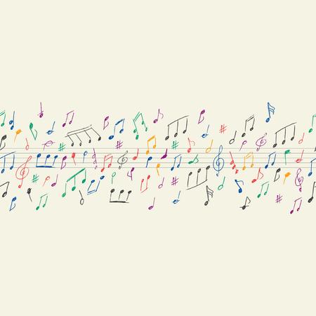 note musicali: Note musicali senza soluzione di continuità