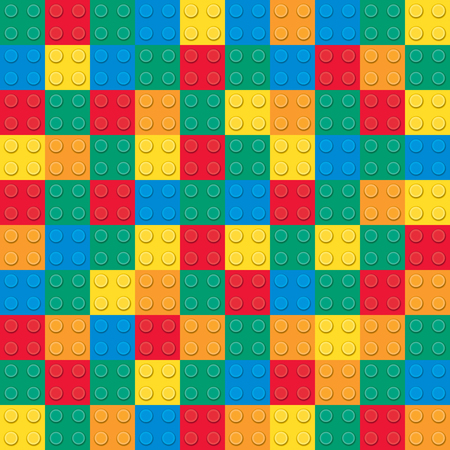 Building toy bricks. Seamless pattern Ilustrace