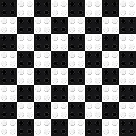 ライト ボックス建物グッズ レンガ チェス盤へのコンプ保存類似を得るを見つけます。シームレス パターン。● イラスト