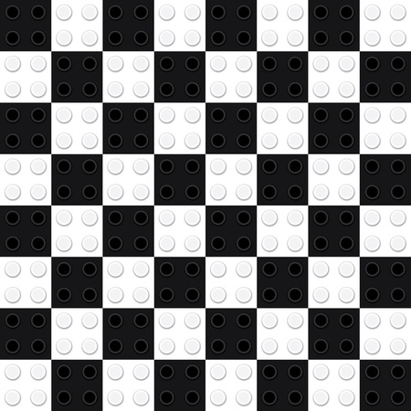 bozzetto: Find Similar  Get a Comp  Save to Lightbox Building toy bricks chess board. Seamless pattern. - Illustration