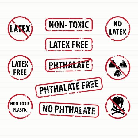 allergic ingredients: Latex and Phthalate free stamps set