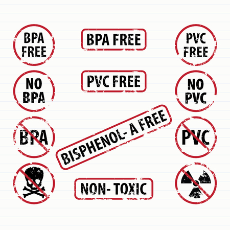 Bisphenol-A and PVC free stamps set