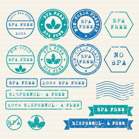 toxic: Bisphenol-A stamps set