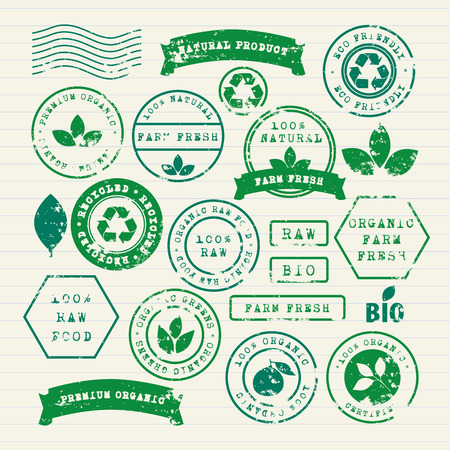 Vector set of ecology healthy food and environment