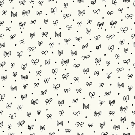 fashion vector: Seamless pattern with bows