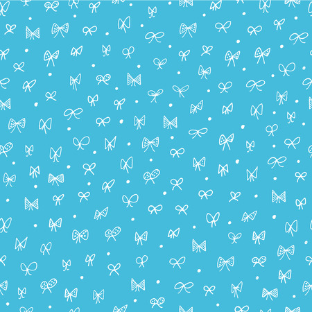 baby blue: Seamless pattern with bows