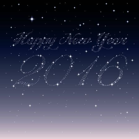 sky: Happy New Year 2016 created from stars