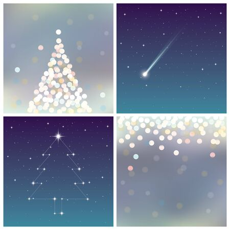 night sky: Christmas backgrounds set