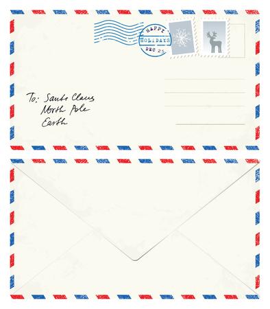 postcard: Carta a Santa Postal Vectores