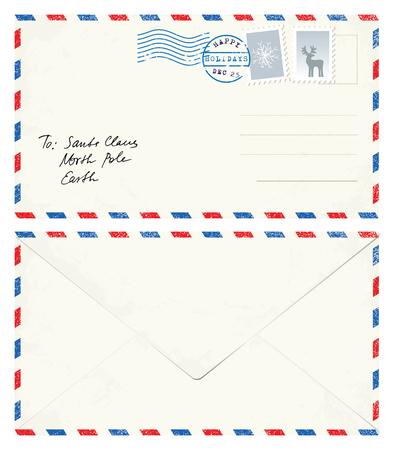 Postcard Letter to Santa Banco de Imagens - 47895442
