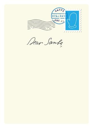 papier lettre: Lettre au P�re No�l