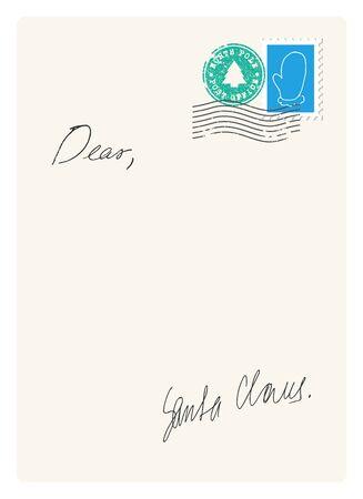 letter from santa: Letter from Santa Illustration