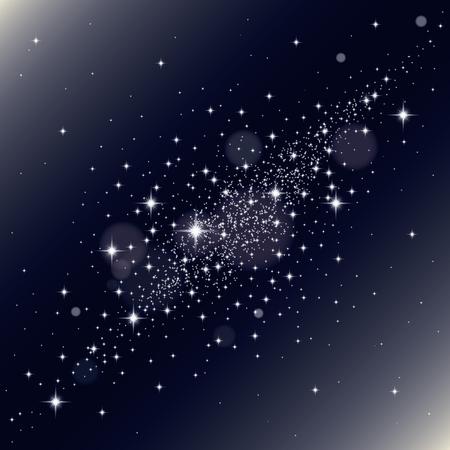 銀河背景。ベクトルの図。抽象的な背景