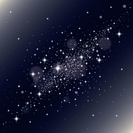 celestial: Galaxy background. Vector Illustration. Abstract background