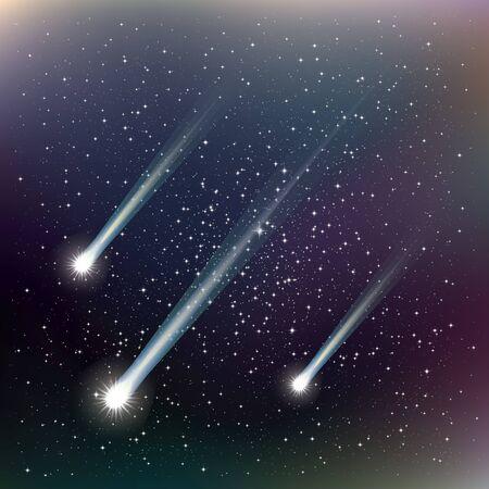 shooting stars: Shooting stars. Vector Illustration. Abstract background
