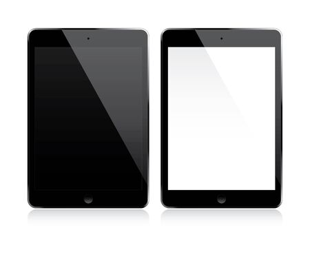 mobil: Tablet with white and black screen