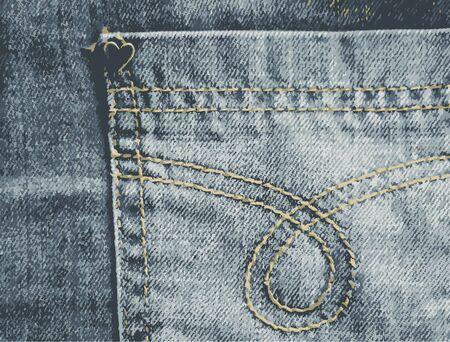 jeans pocket: Jeans Pocket Texture. Vector Illustration Illustration