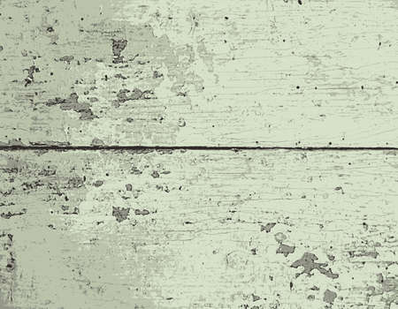 painted wood: Old painted wood texture. Vector Illustration