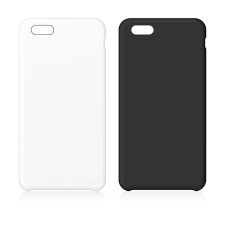 Blank telefoon geval. Vector illustratie. vector Illustration