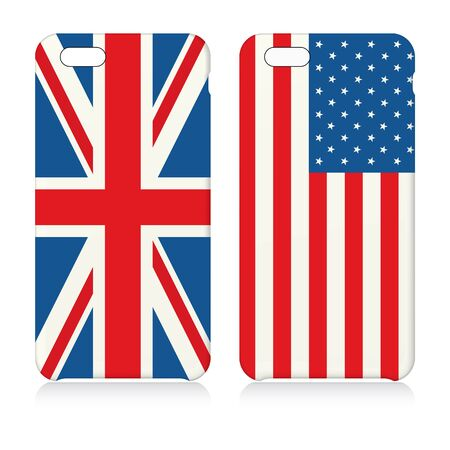 case: Phone covers with flags of USA and UK