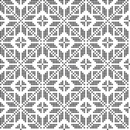 esquema: bordado tradicional inspiró el modelo inconsútil. Ilustración del vector