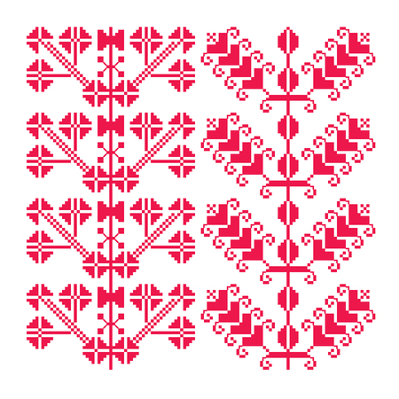 find similar images: Preview Save to a lightbox  Find Similar Images  Share Stock Vector Illustration: Traditional pixelated embroidery. Seamless pattern. Vector Illustration