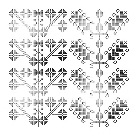 similar images preview: Preview Save to a lightbox  Find Similar Images  Share Stock Vector Illustration: Traditional pixelated embroidery. Seamless pattern. Vector Illustration