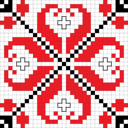 Tradycyjny schemat słowiański hafty. Bułgarscy motywów. Ilustracja wektora.