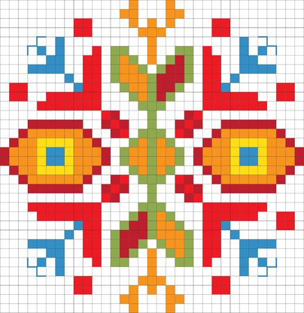 slavic: Traditional Slavic embroidery scheme. Vector Illustration Illustration