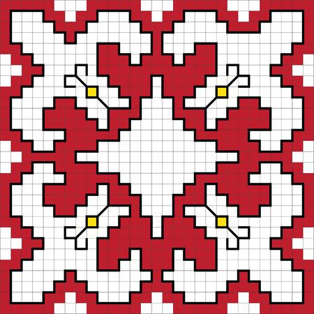 Traditional Slavic embroidery scheme. Vector illustration