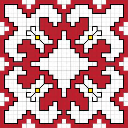 traditional illustration: Traditional Slavic embroidery scheme. Vector illustration