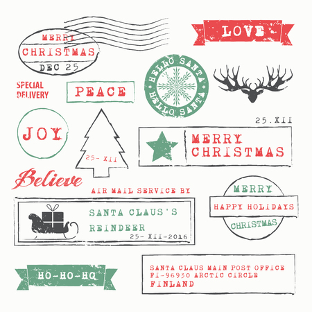pole: Christmas Stamps Collection