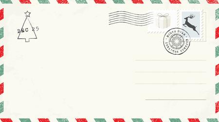 Blank Christmas Postcard Illustration