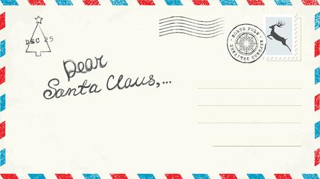 Dear Santa Claus Letter Illustration