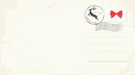 Blank Christmas Postcard. Vector Illustration Illustration