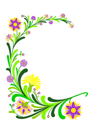 Abstract floral decoration Vector