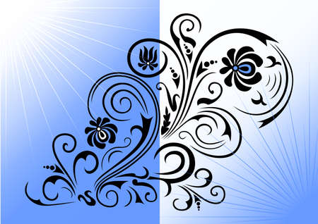 Illustration of abstract floral ornament Vector