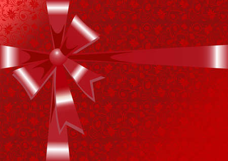 Illustration of gift wrapping in red colors Vector