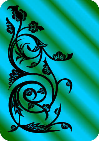 Illustration of abstract floral ornament Illustration