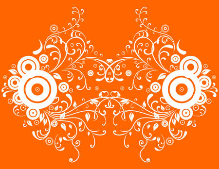 Illustration of abstract orange background