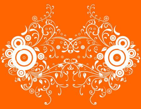 liane: Illustration of abstract orange background