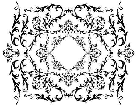 Illustration of abstract black ornament