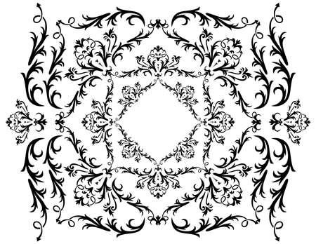 liane: Illustration of abstract black ornament